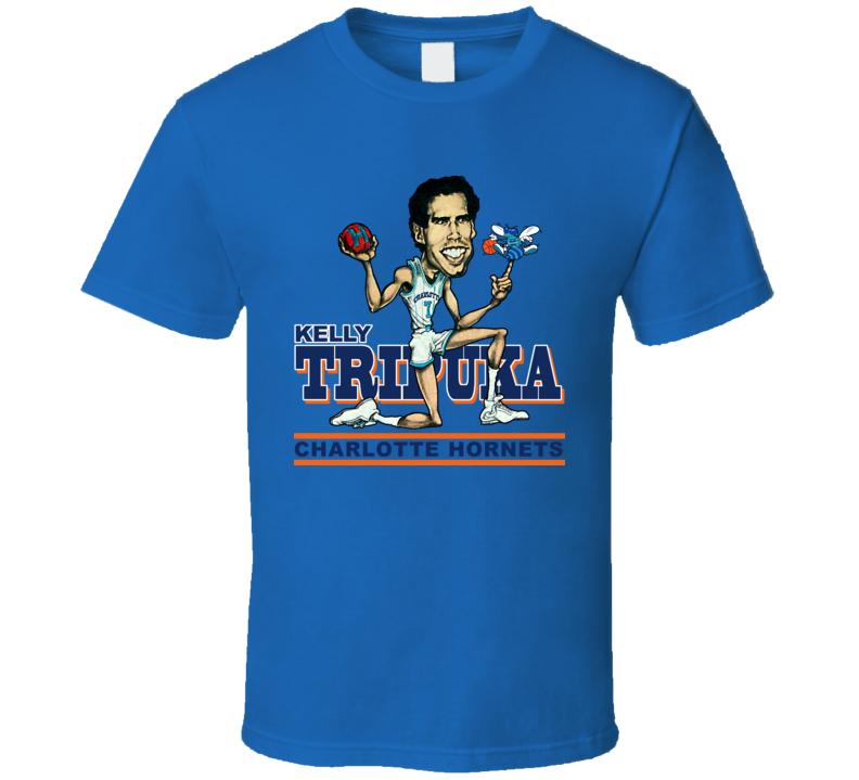 Kelly Tripuka Retro Basketball Caricature T Shirt