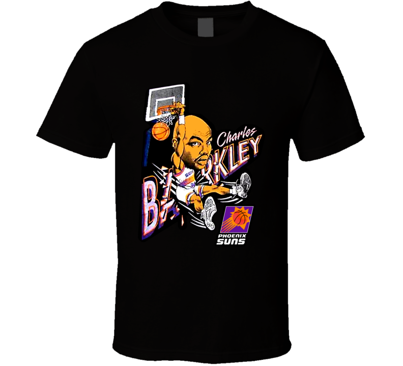 Charles Barkley Retro Basketball Caricature T Shirt