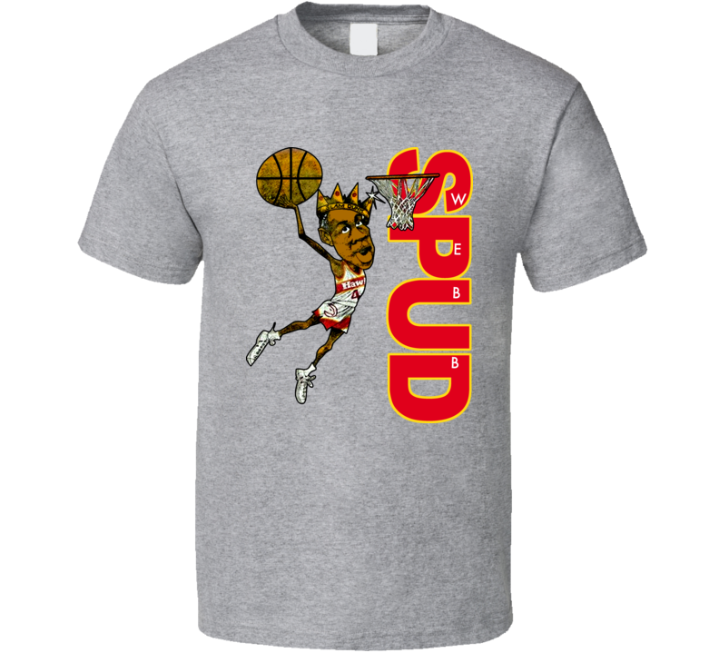 Spud Webb Retro Basketball Caricature T Shirt