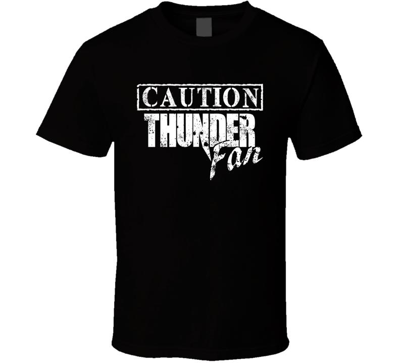 Caution Oklahoma City Basketball Sports Team Fan T Shirt