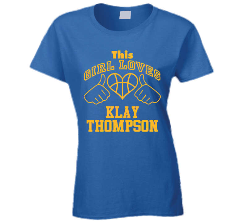 Klay Thompson This Girl Loves Heart Golden State Basketball T Shirt