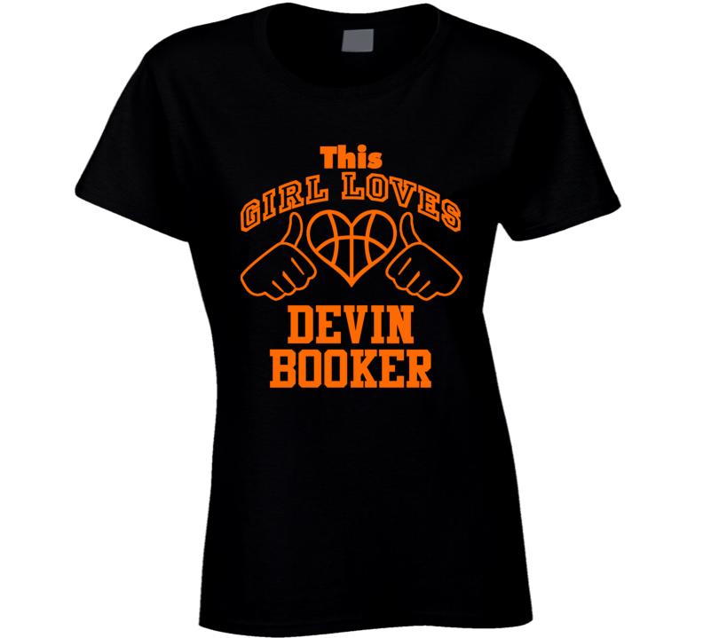 Devin Booker This Girl Loves Heart Phoenix Basketball T Shirt