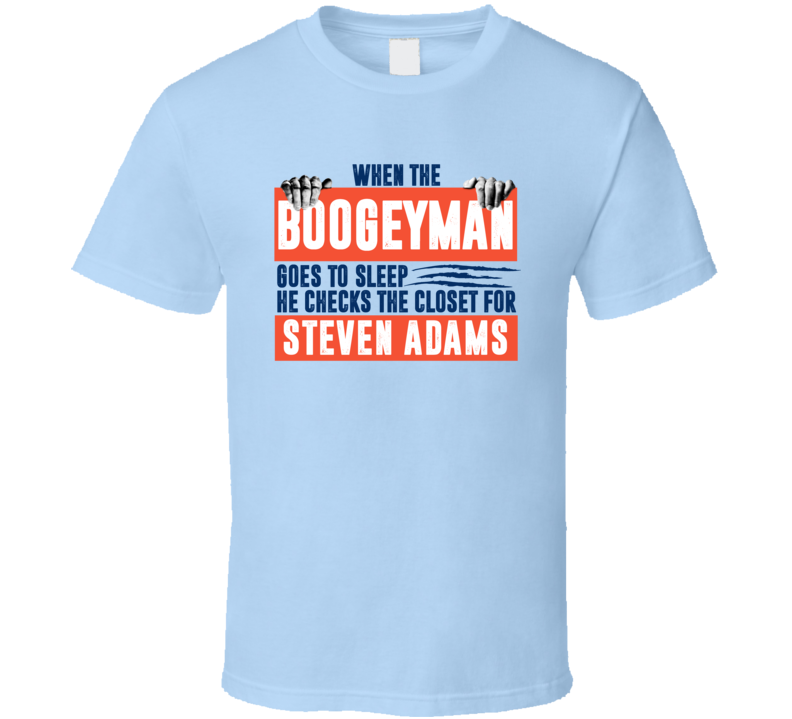Steven Adams Boogeyman Checks Closet For Oklahoma City Basketball T Shirt