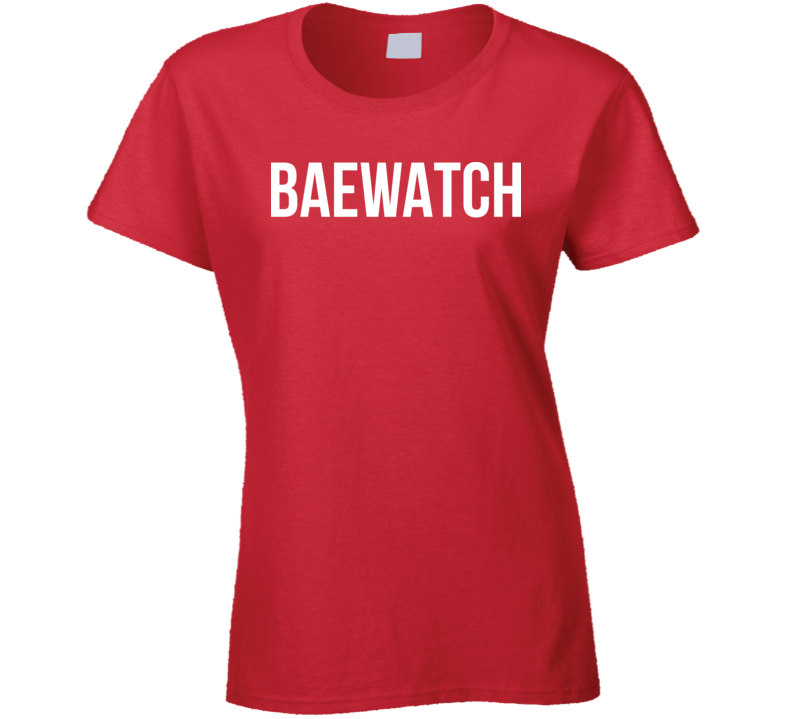 Baewatch Beach Bunny Sun Worshipper Bae Ladies T Shirt