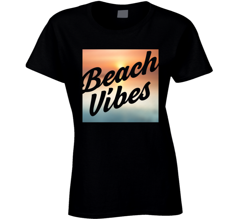 Beach Vibes Sun Worshipper Sun Tan Island Life Vacation Ladies T Shirt