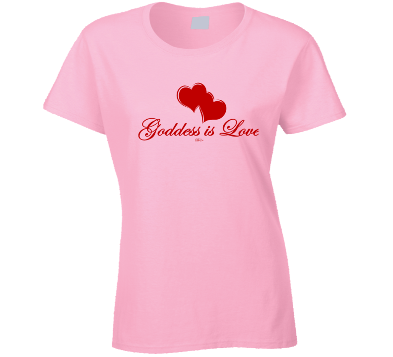 Goddess Is Love Red T Shirt