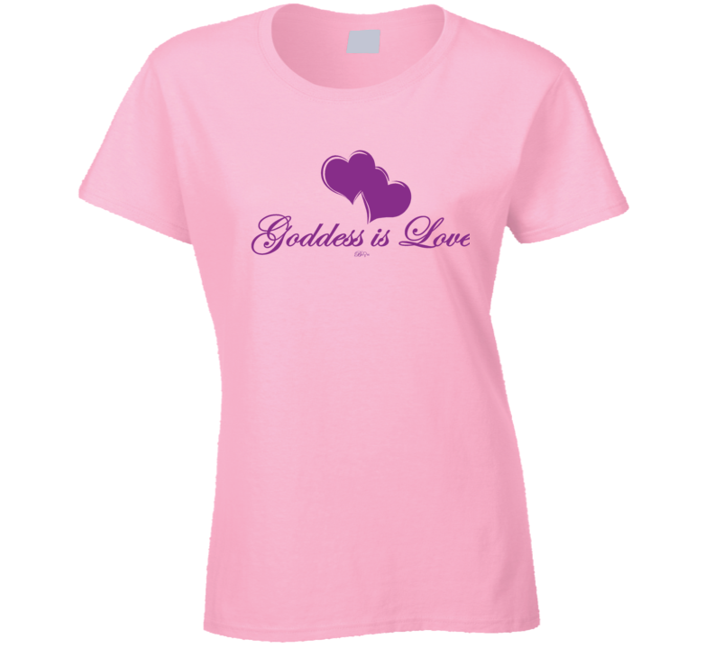 Goddess Is Love Purple T Shirt