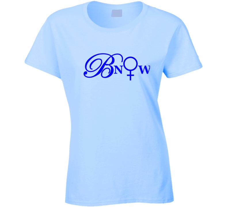 Bnow Blue Letters T Shirt