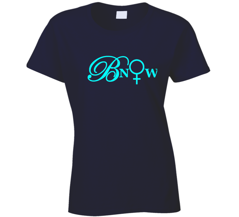 Bnow Turquoise Letters T Shirt