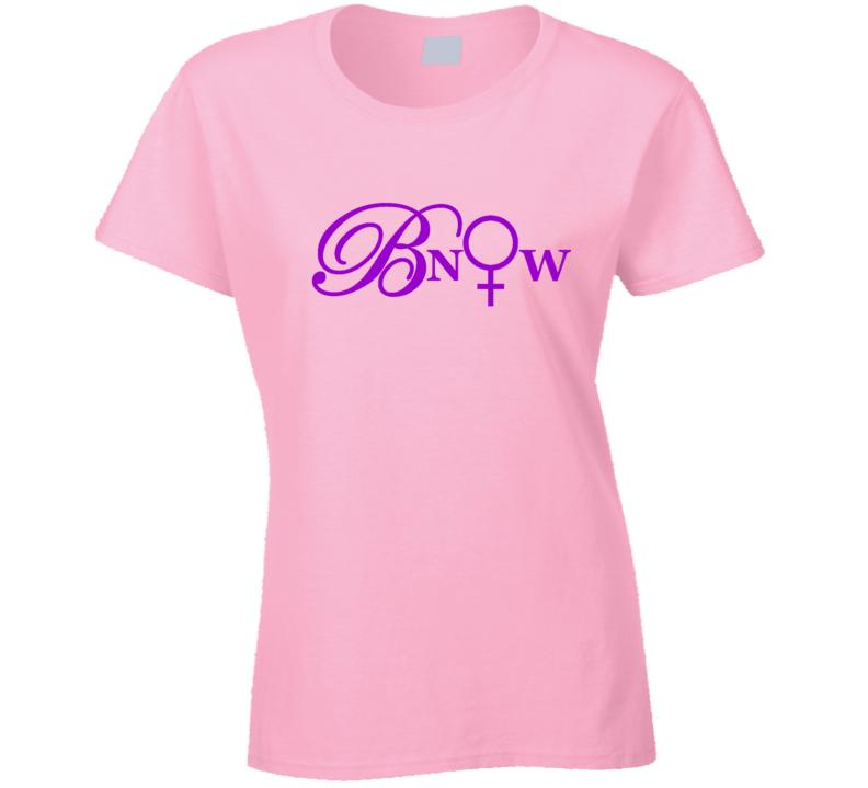 Bnow Purple Letters T Shirt