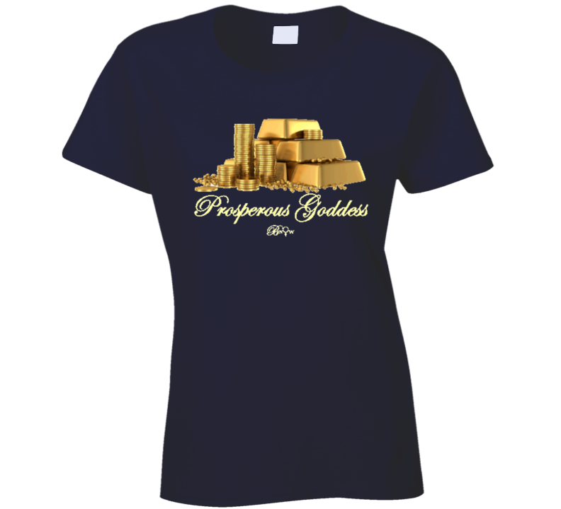 Prosperous Goddess Gold T Shirt
