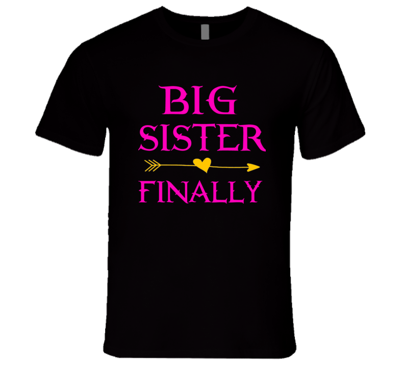 Big Sis Pink T Shirt