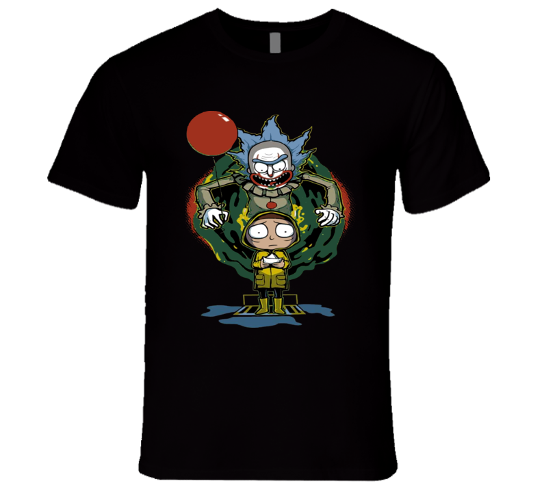Rick And Morty It The Clown Parody Multidimensional Funny Tv T Shirt