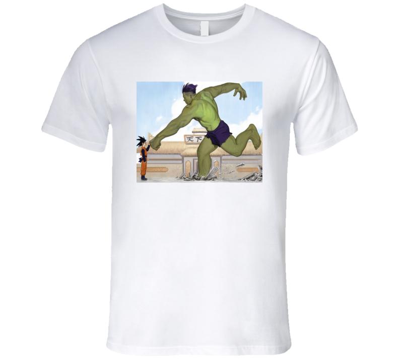 Goky Against Hulk T Shirt