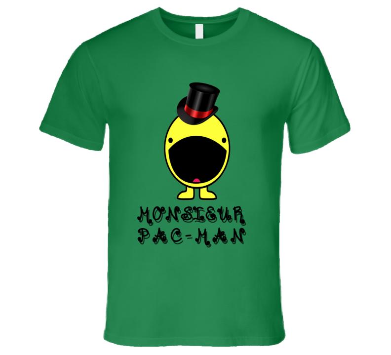 MONSIEUR PAC-MAN CLASSY VIDEO GAME RETRO VINTAGE T Shirt