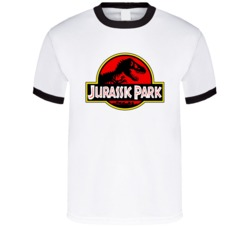 Jurassic Park Original Retro Logo Dinosaur World Movie T Shirt