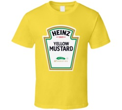 Heinz Yellow Mustard Ketchup Funny Couples Condiment Halloween T Shirt