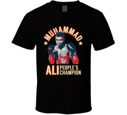 Muhammad Ali Peoples Champion Boxing Legend Fan Memorial Boxer T Shirt