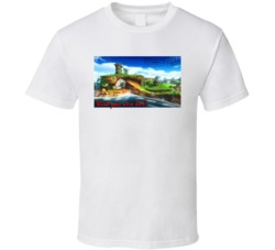 Sonic The Hedgehog Green Hill Zone Wish You Were Here Postcard Video Game T Shirt