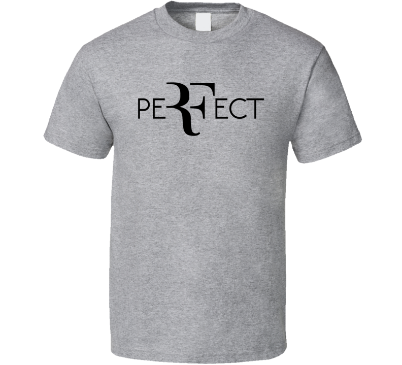 Perfect RF Roger Federer Wimbledon Tennis Fan T Shirt