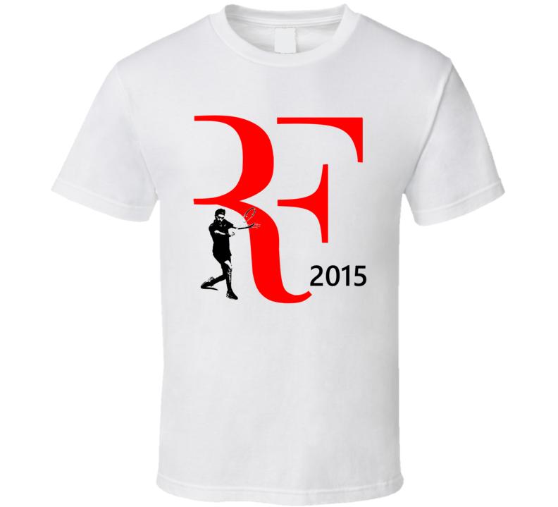 Roger Federer 2015 RF Wimbledon Tennis Fan T Shirt