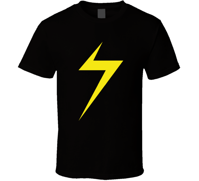 Ms Marvel Kamala Khan Lightning Bolt T Shirt
