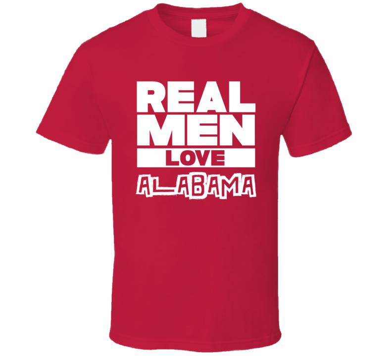 Real Men Love Alabama Cool Country Music T Shirt