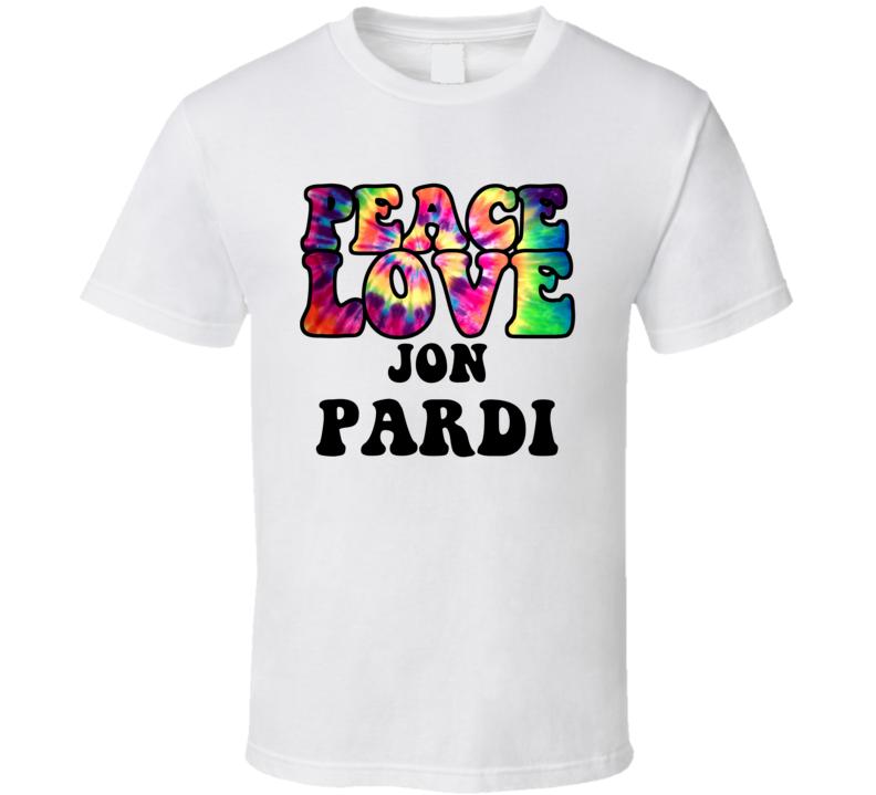 Peace Love Jon Pardi Tie Dye Style Country Music Hippie T Shirt