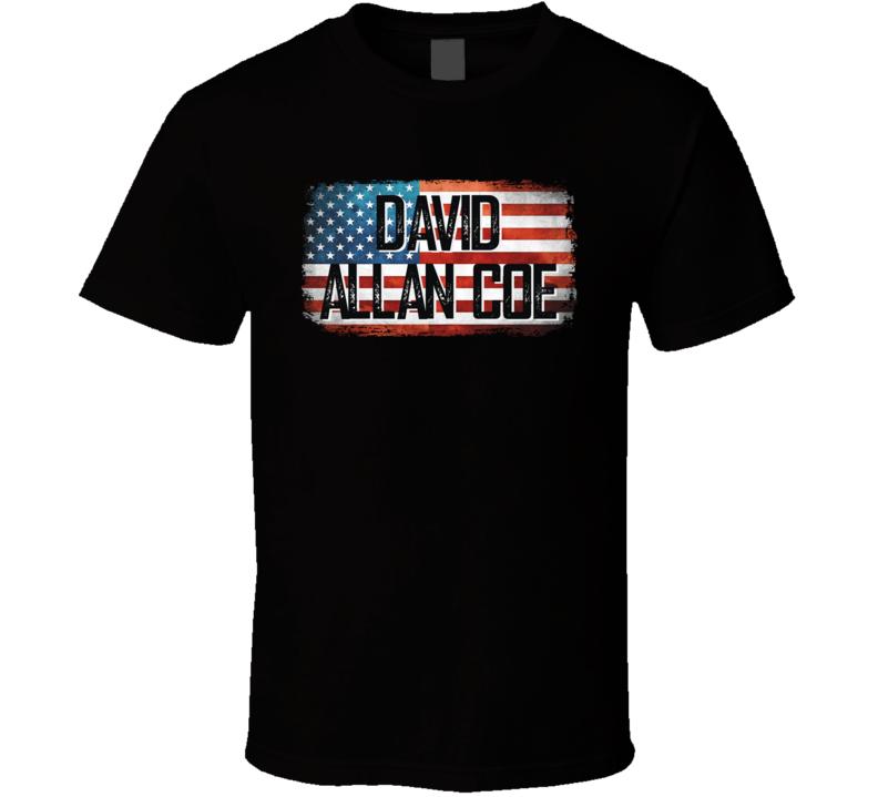 David Allan Coe American Pride Country Music Concert Fan T Shirt