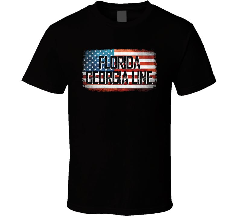 Florida Georgia Line American Pride Country Music Concert Fan T Shirt