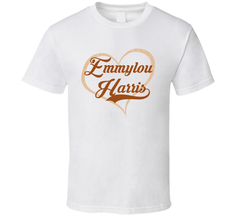 Heart Love Emmylou Harris Cool Country Music Fan T Shirt