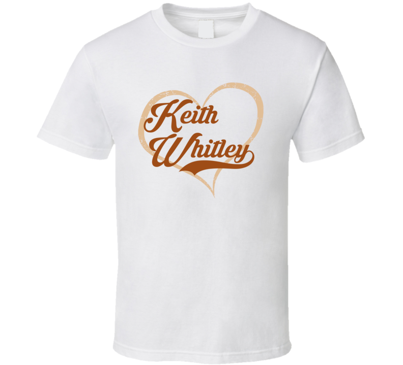Heart Love Keith Whitley Cool Country Music Fan T Shirt