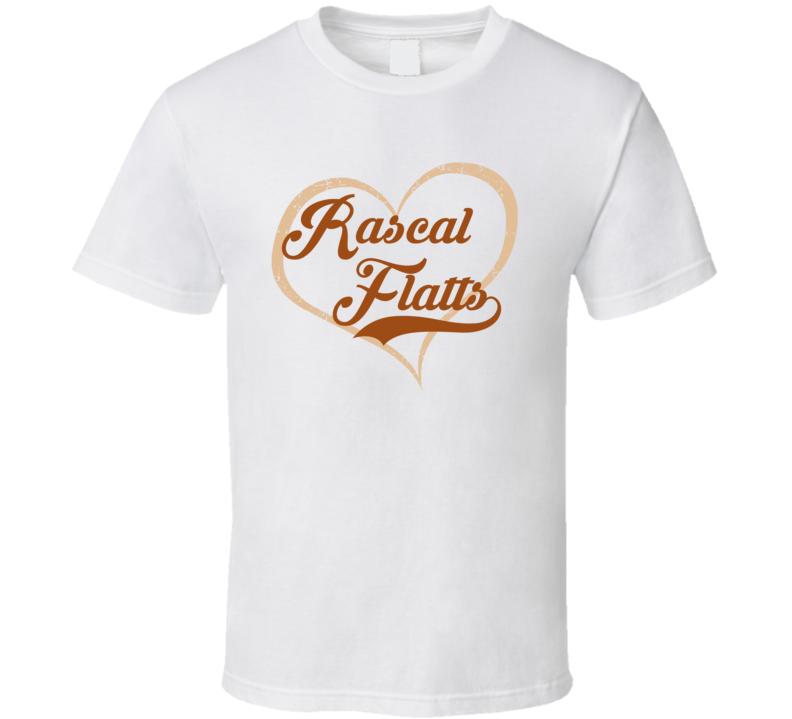 Heart Love Rascal Flatts Cool Country Music Fan T Shirt