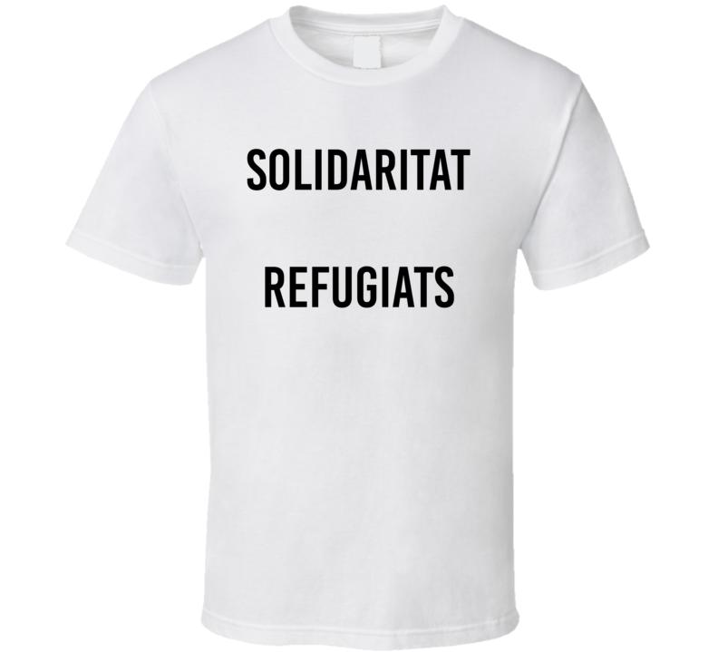 Solidaritat Refugiats Syrian Solidarity Refugee Soccer Real Madrid T Shirt