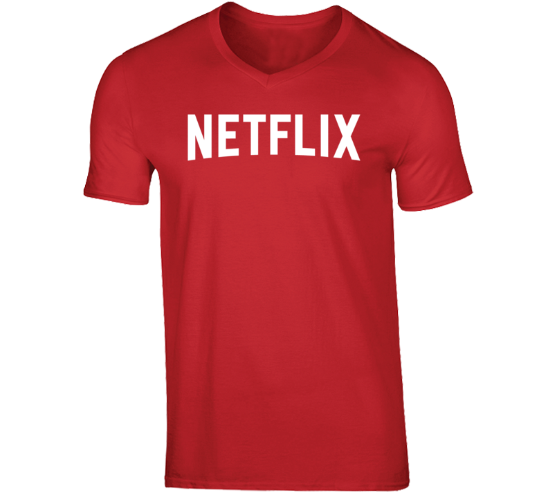 Netflix And Chill Funny Cool Sex Date V Neck T Shirt