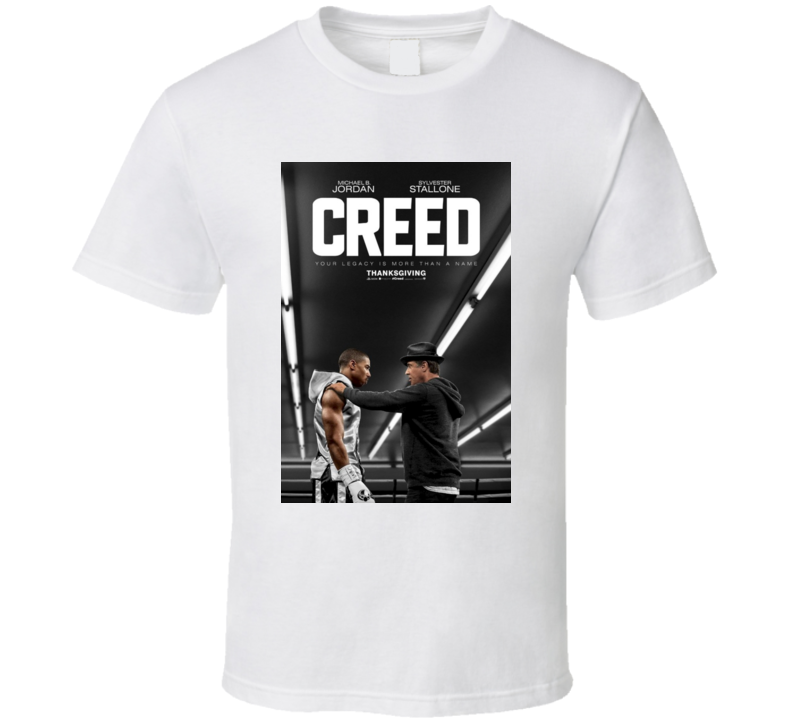 Creed Rocky Stallone Michael B Jordan Fight Movie Poster T Shirt