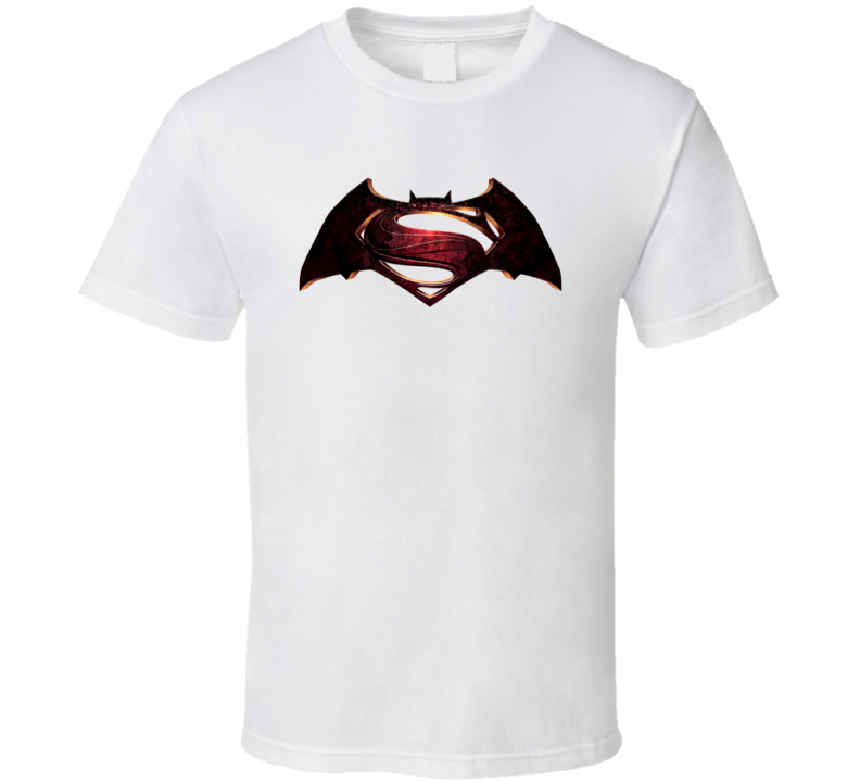Batman Vs Superman 2016 Comic Movie Poster Logo T Shirt