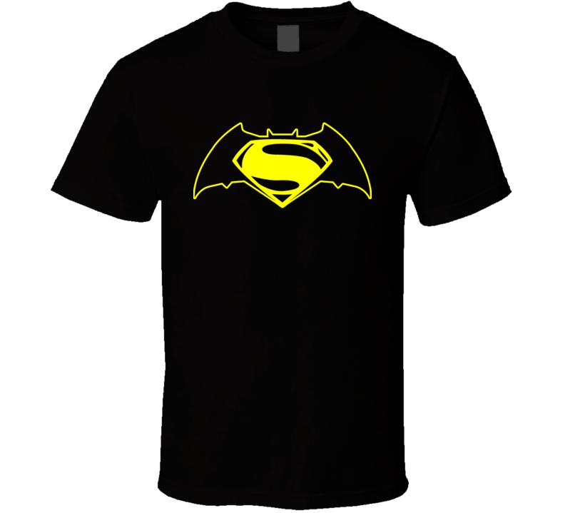 Batman VS Superman Dawn Of Justice Ben Affleck Henry Cavill 2016 Movie Poster Logo T Shirt