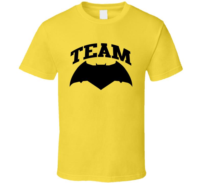 Team Batman V Superman Dawn Of Justice Movie Logo T Shirt