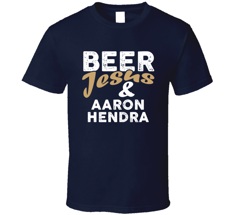 Beer Jesus And Aaron Hendra Cool Country Music T Shirt