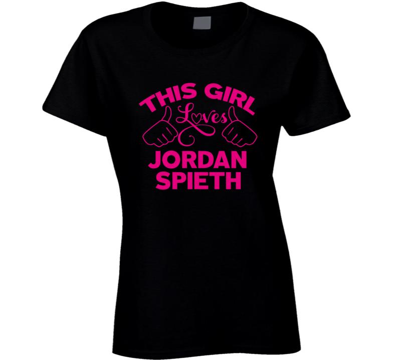 This Girl Loves Jordan Spieth Cool Popular Trending Ladies Celeb Fan T Shirt