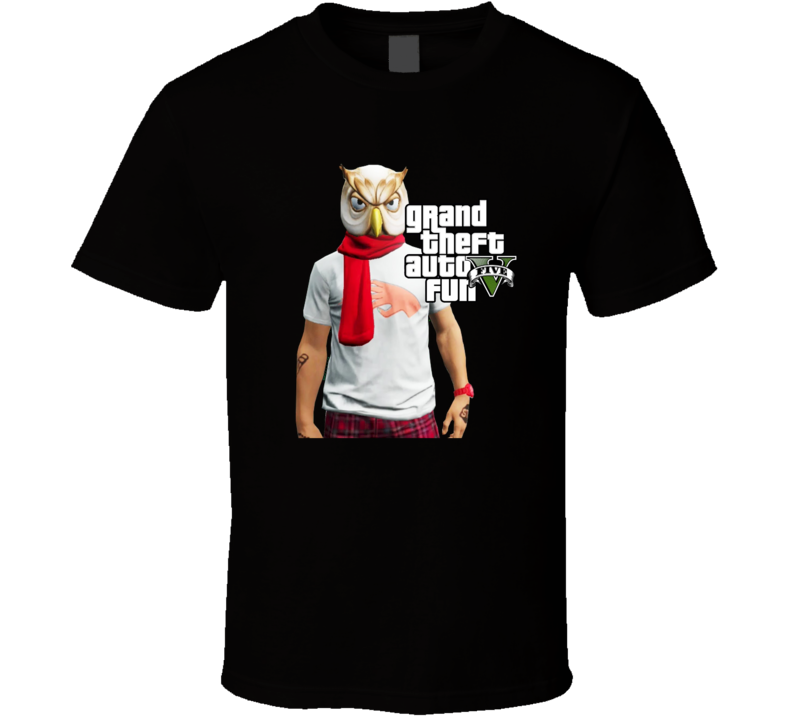Grand Theft Auto Fun Five Vanoss Gaming Owl Mask Fan T Shirt