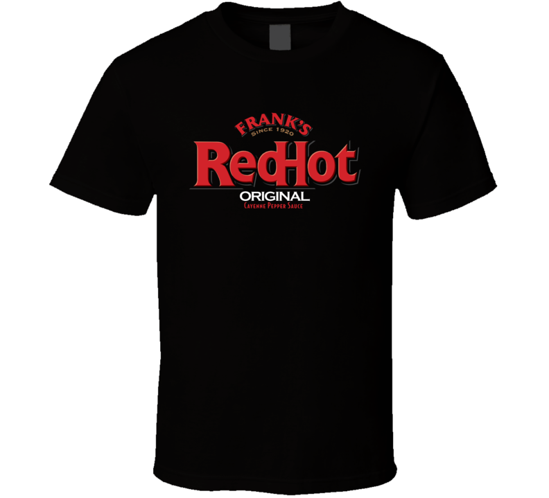Franks Red Hot Sauce Original Logo Cool Food Brand T Shirt