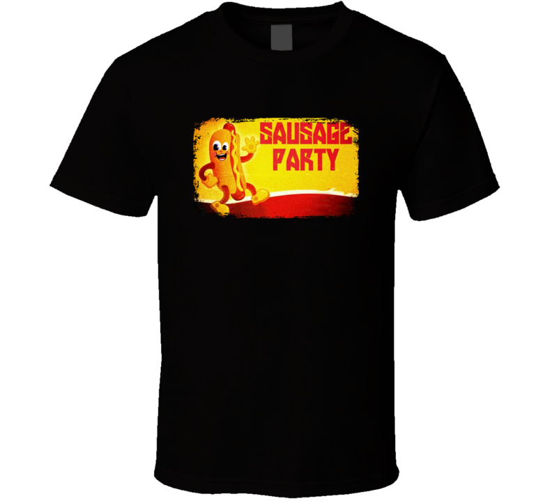 Sausage Party Seth Rogen Funny Food Movie Retro Poster T Shirt