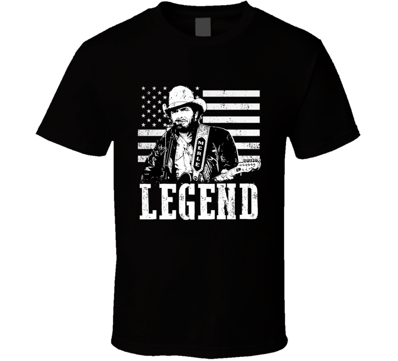 Merle Haggard American Country Music Legend Memorial Fan T Shirt