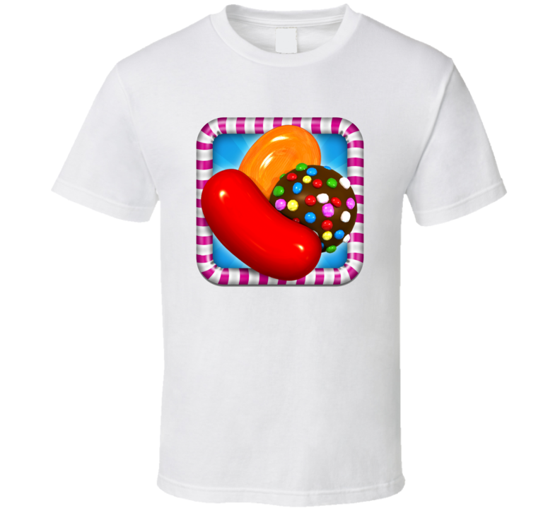 Candy Crush Saga Addicted Mobile Internet Game App Fan T Shirt