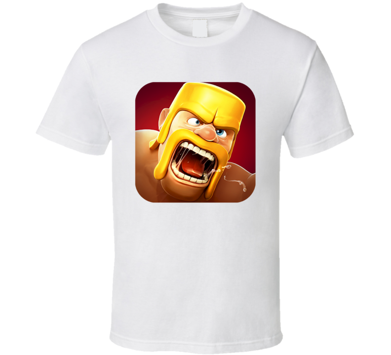 Clash Of Clans Addicted Mobile Internet Game App Fan T Shirt
