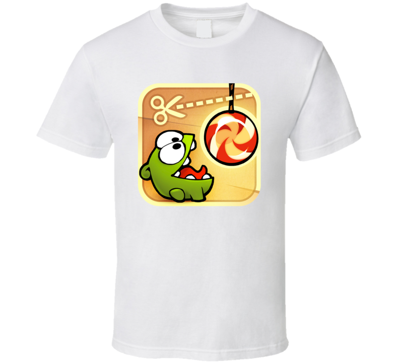 Cut The Rope Addicted Mobile Internet Game App Fan T Shirt