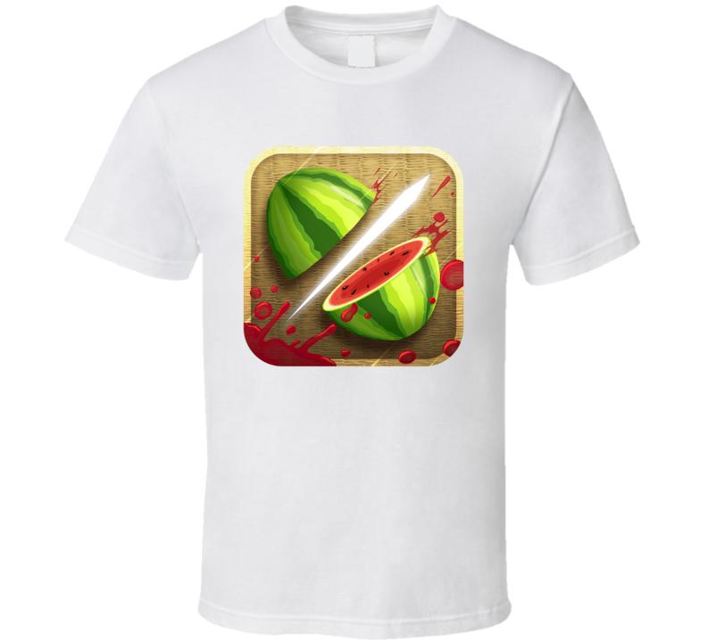 Fruit Ninja Addicted Mobile Internet Game App Fan T Shirt