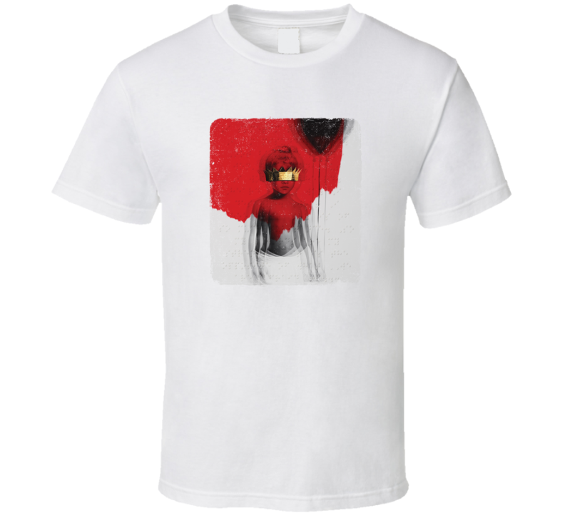 Rihanna Anti Album Cover Music Artist Celebrity Fan T Shirt